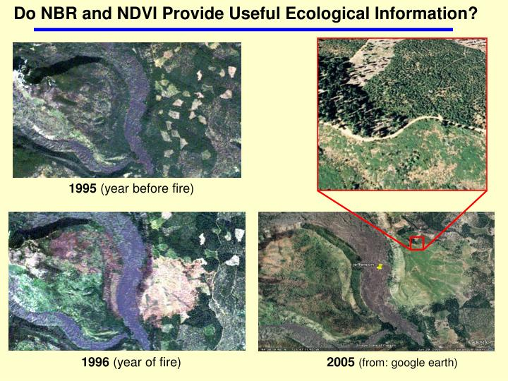 Do NBR and NDVI Provide Useful Ecological Information?