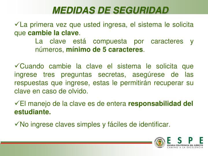 MEDIDAS DE SEGURIDAD