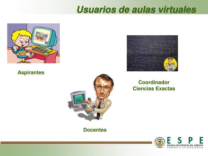Usuarios de aulas virtuales