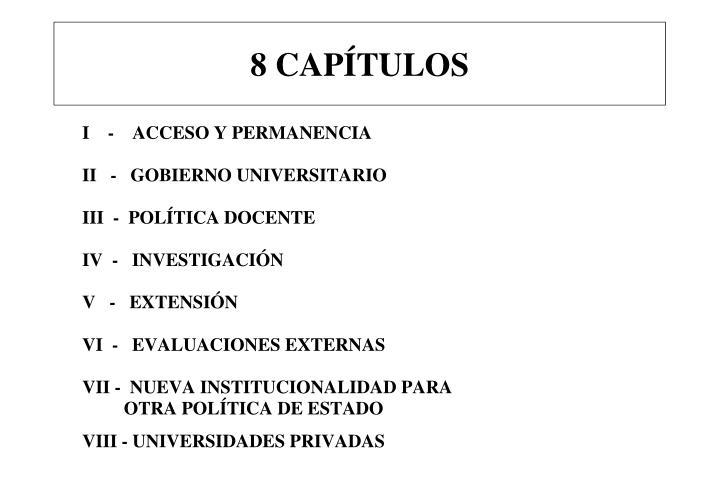 8 CAPÍTULOS