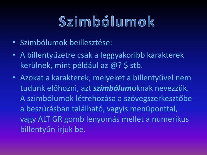 Szimblumok