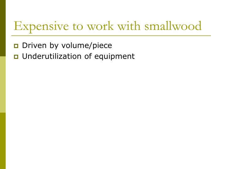 Expensive to work with smallwood