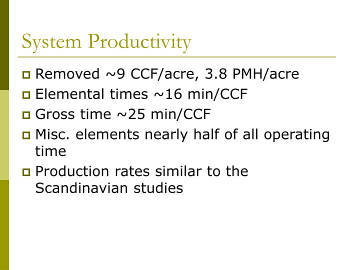 System Productivity