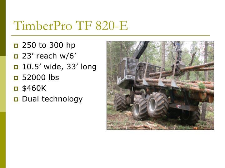 TimberPro TF 820-E