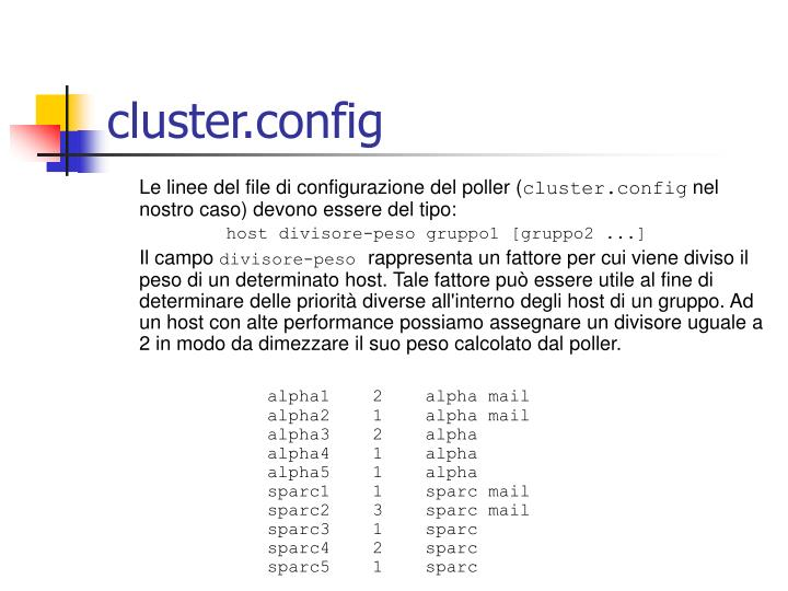 cluster.config