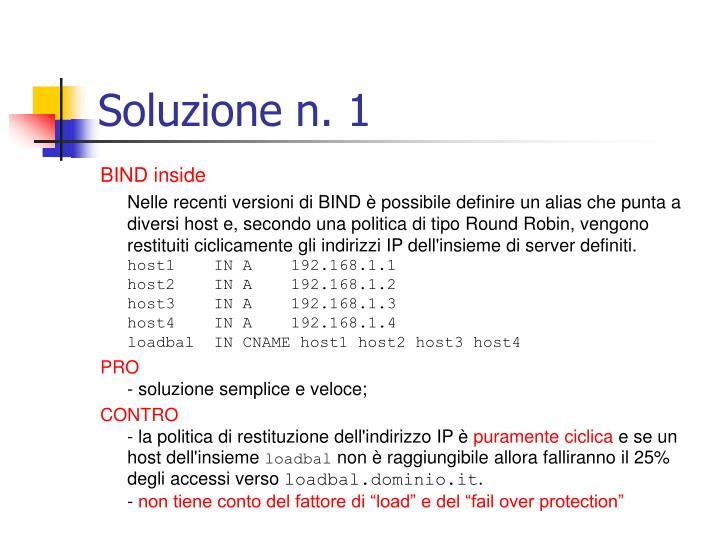 Soluzione n. 1
