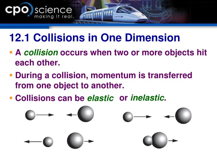 12.1 Collisions in One Dimension