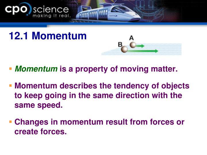 12.1 Momentum
