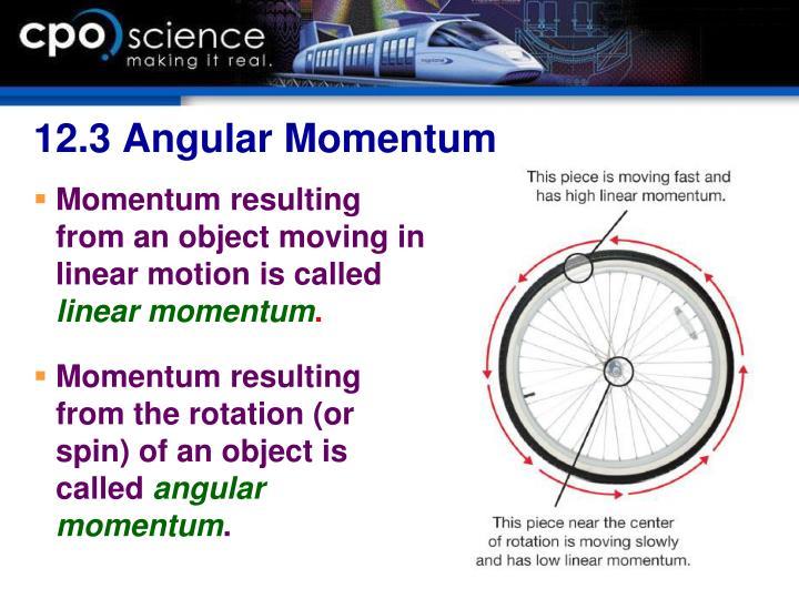 12.3 Angular Momentum