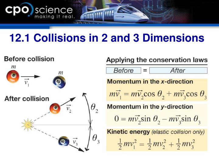 12.1 Collisions in 2 and 3 Dimensions