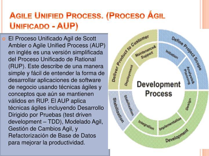 Agile Unified Process. (Proceso Ágil Unificado - AUP)