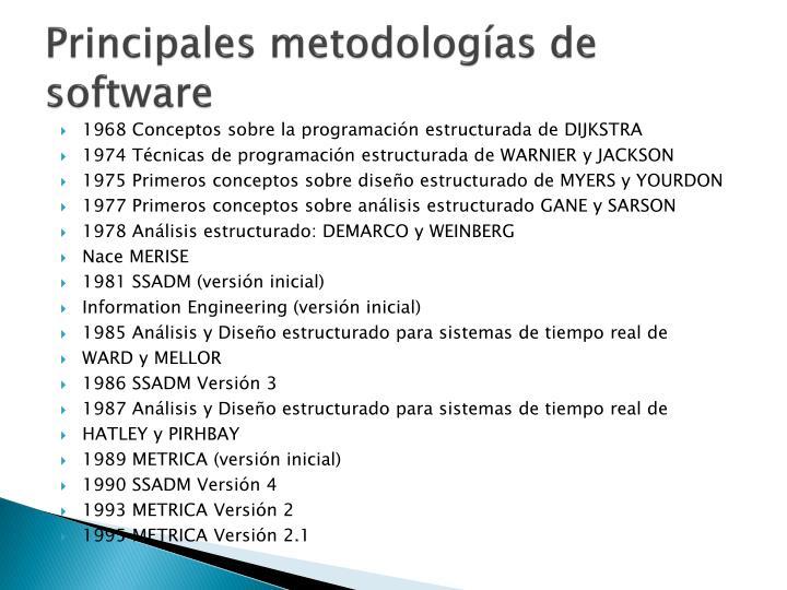 Principales metodologías de        software