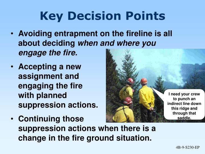 Key Decision Points