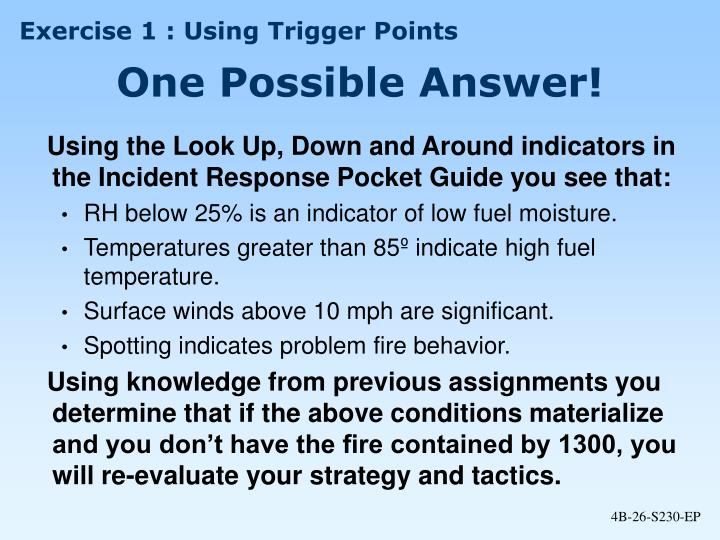 Exercise 1 : Using Trigger Points