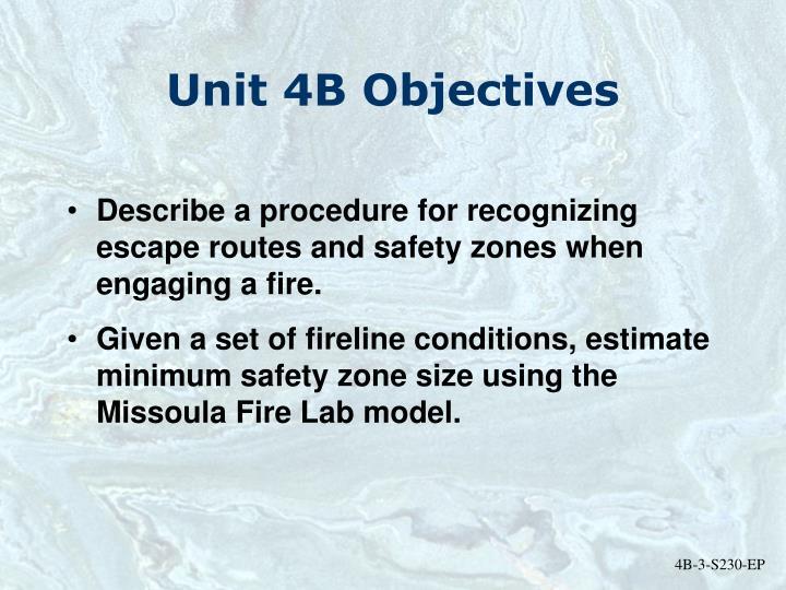 Unit 4B Objectives