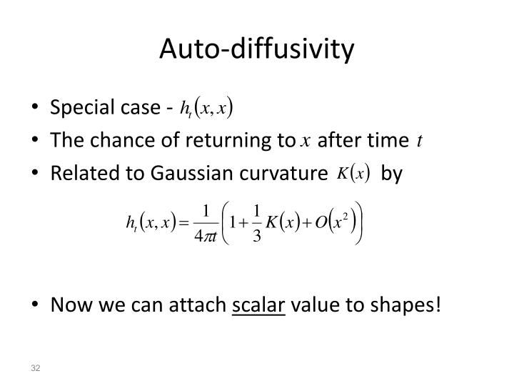 Auto-diffusivity
