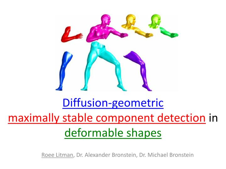 Diffusion geometric maximally stable component detection in deformable shapes