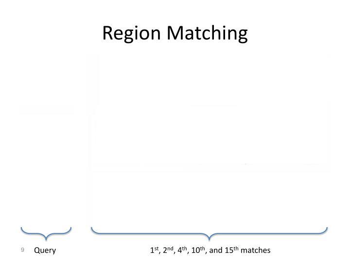 Region Matching