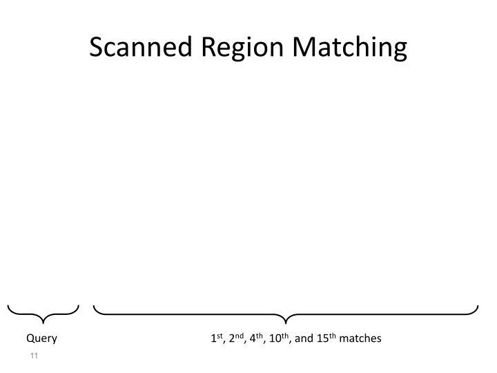 Scanned Region Matching