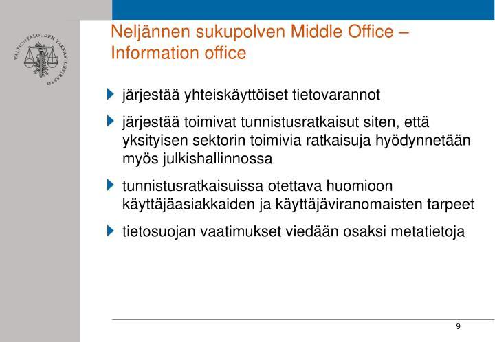 Neljännen sukupolven Middle Office – Information office