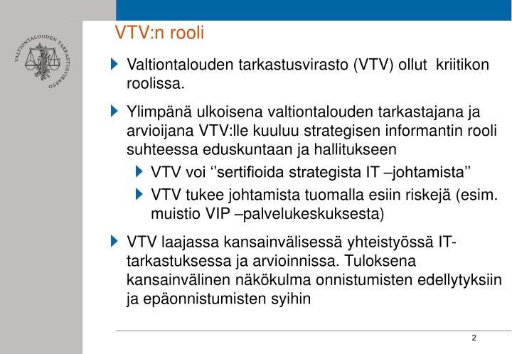 VTV:n rooli