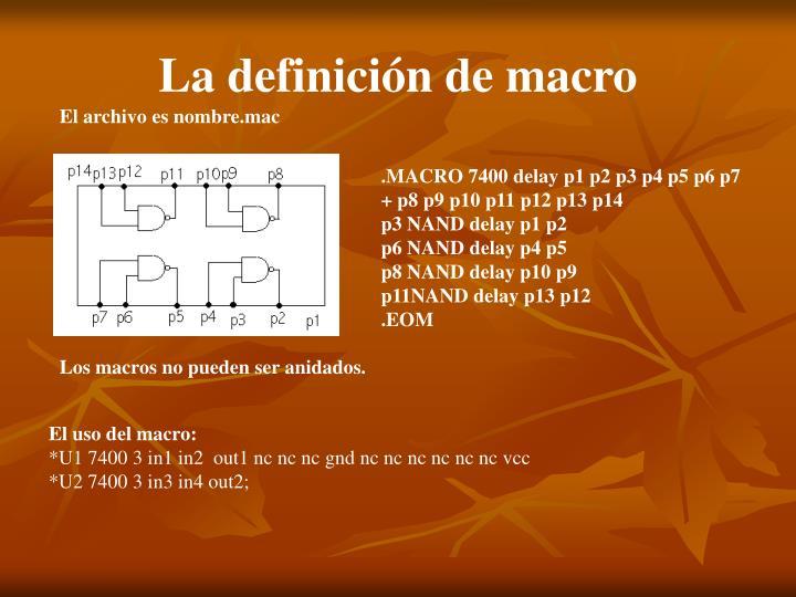 La definición de macro
