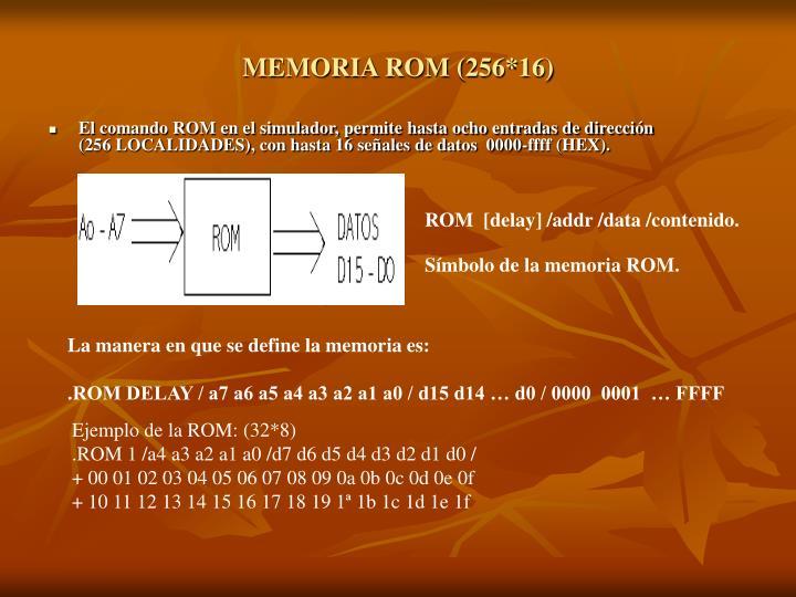 MEMORIA ROM (256*16)