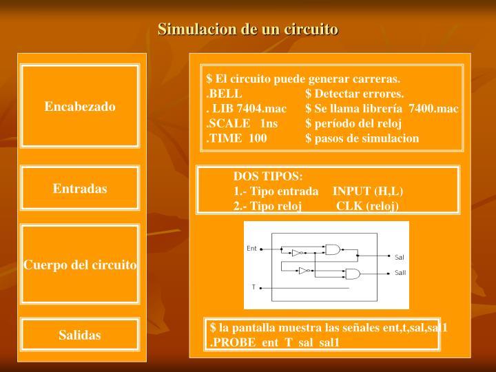 Simulacion de un circuito