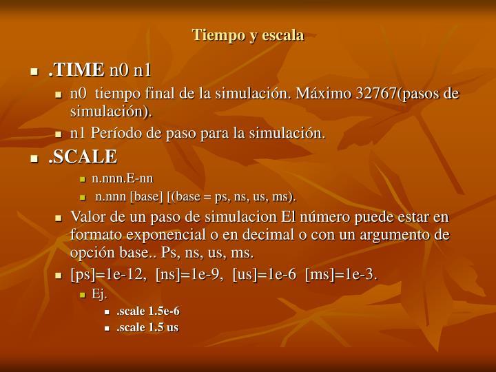 Tiempo y escala