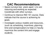 cac recommendations