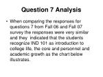 question 7 analysis
