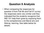question 9 analysis