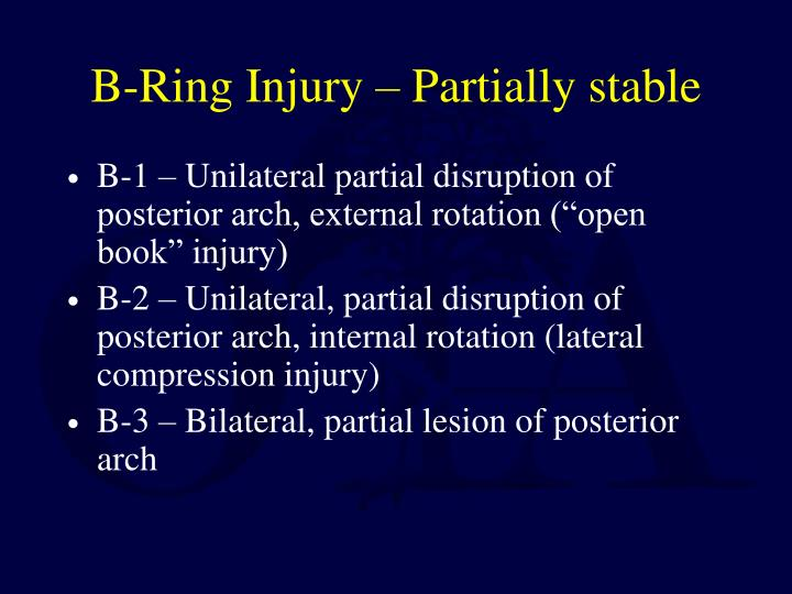 B-Ring Injury – Partially stable