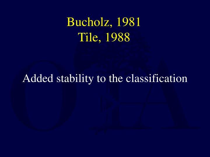 Bucholz, 1981