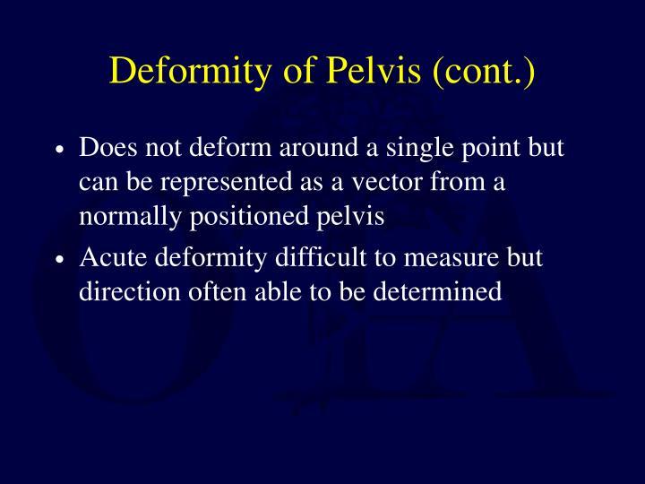 Deformity of Pelvis (cont.)