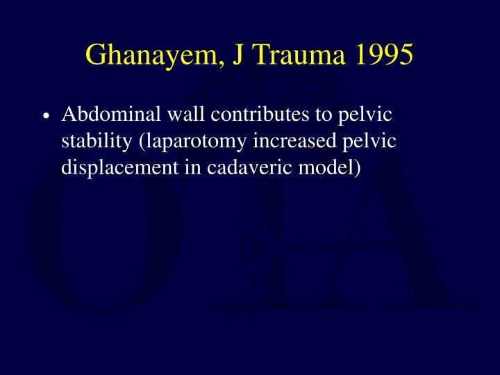 Ghanayem, J Trauma 1995