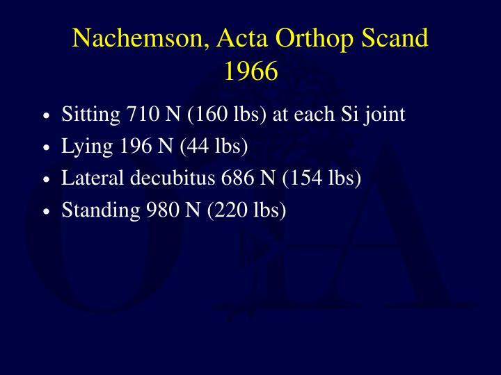 Nachemson, Acta Orthop Scand 1966