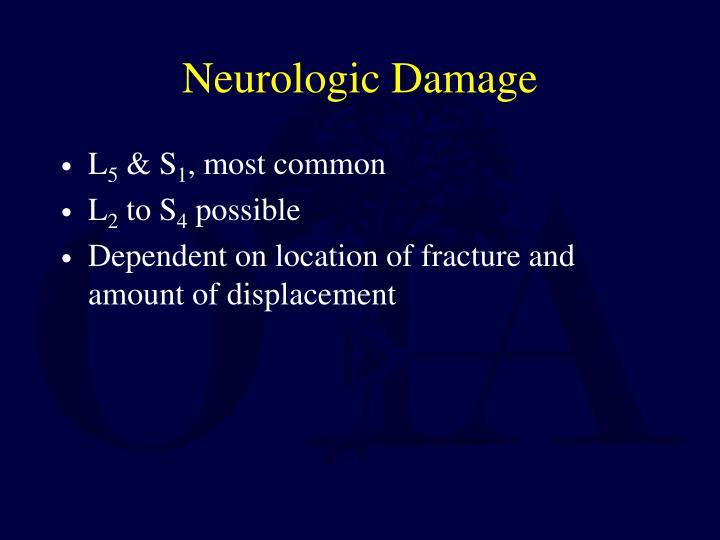 Neurologic Damage