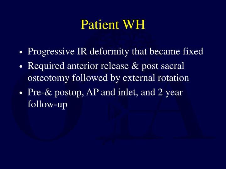 Patient WH