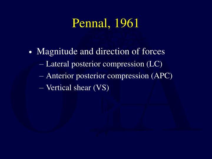 Pennal, 1961