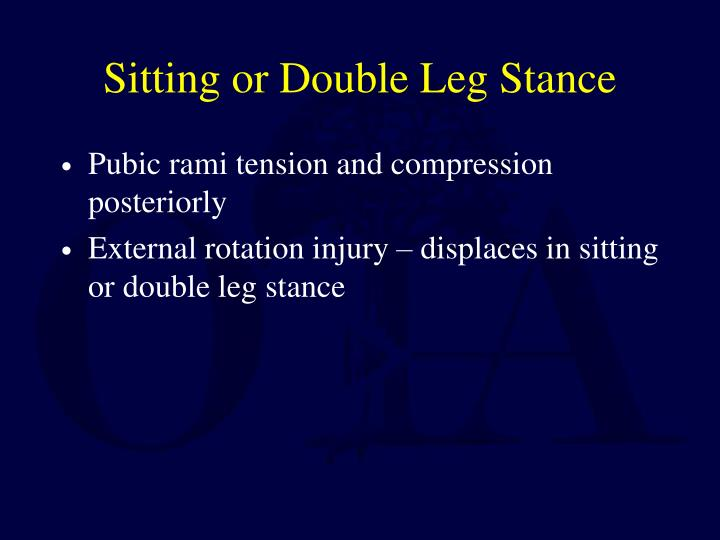 Sitting or Double Leg Stance