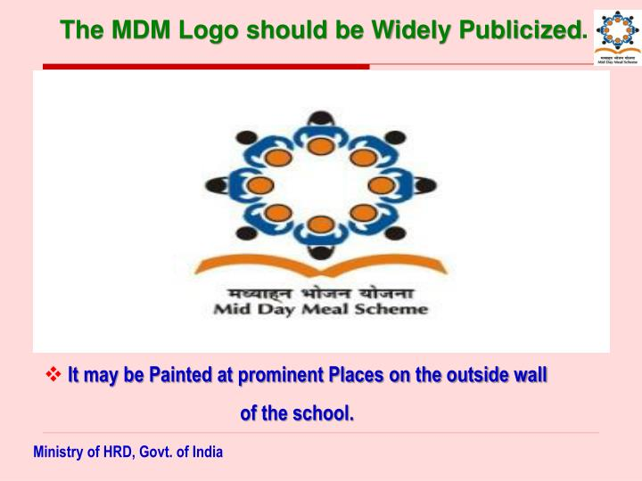 The MDM Logo should be Widely Publicized