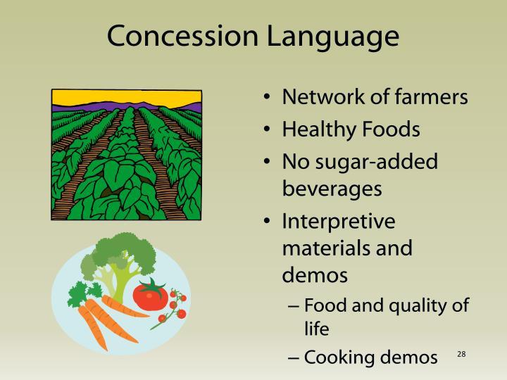 Concession Language