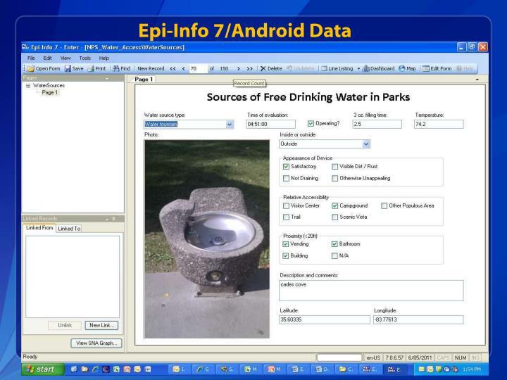 Epi-Info 7/Android Data