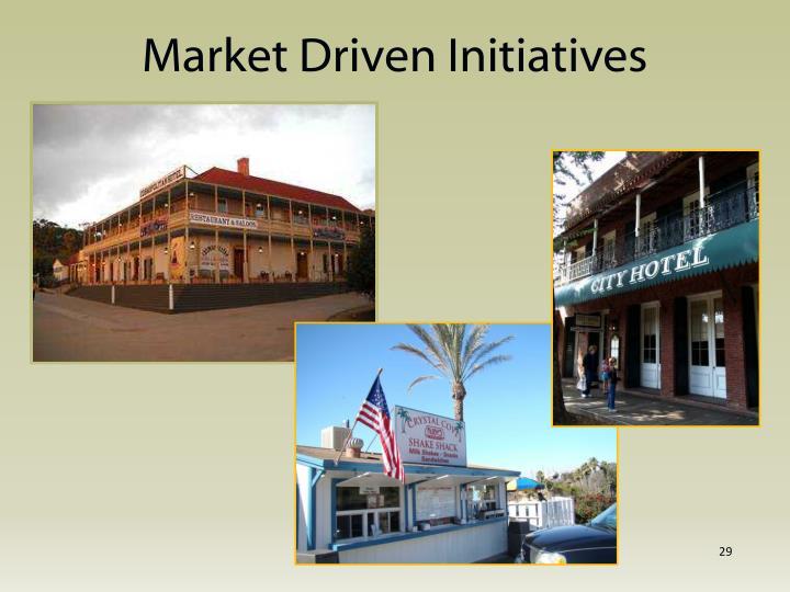 Market Driven Initiatives