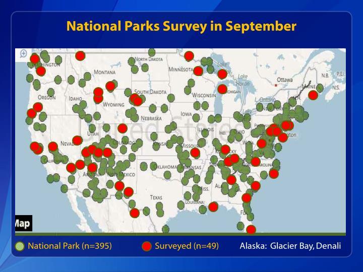 National Parks Survey in September