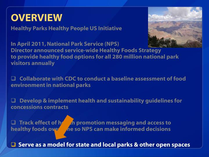 Healthy Parks Healthy People US Initiative