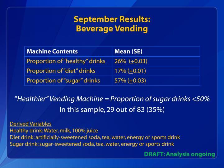 September Results: