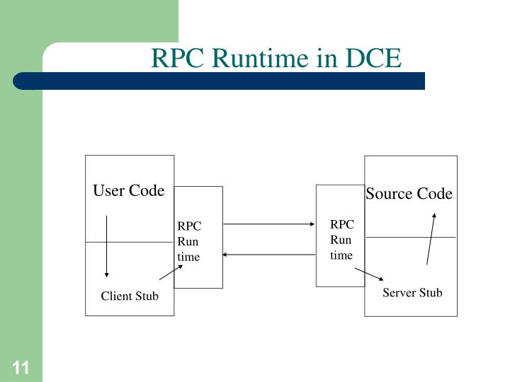 RPC Runtime in DCE