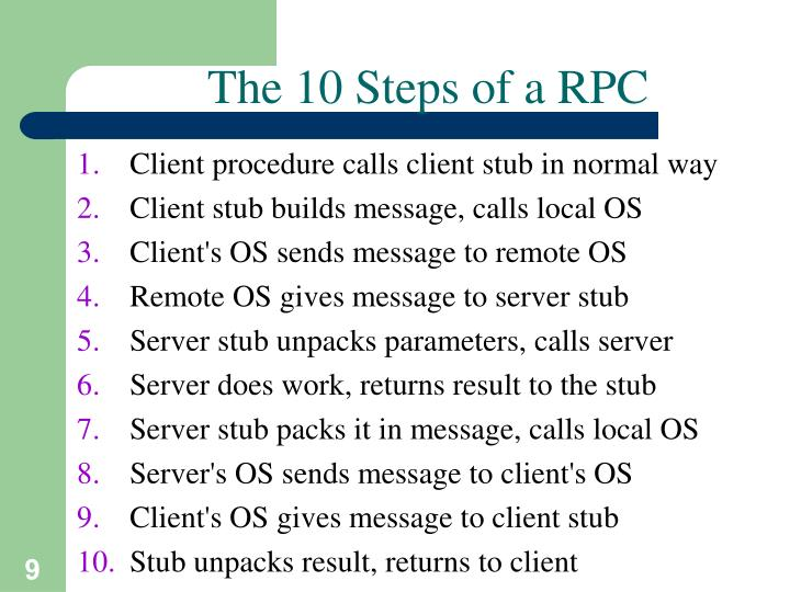 The 10 Steps of a RPC